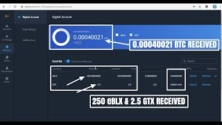 AIRDROP I 1000 eBLX Token worth 10$  & 2.5 GTX Token worth 1$ by Bitxmi.com I Must Complete KYC