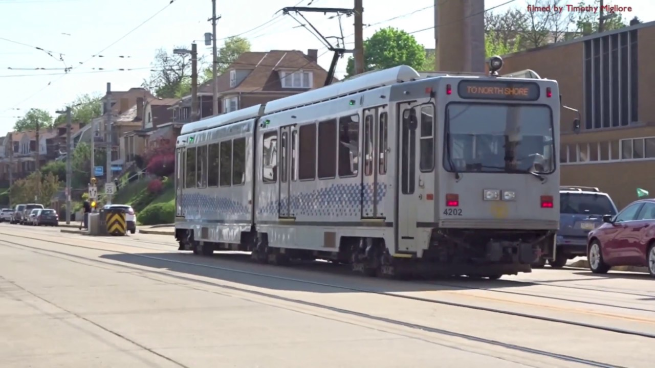 the lightrail in pittsburgh pennsylvania 2018 youtube