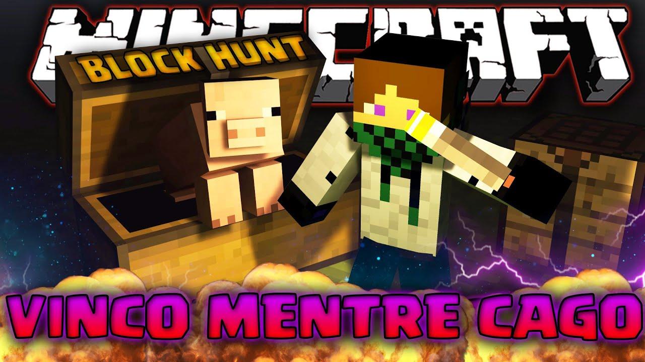 VADO IN BAGNO A  E VINCO  Minecraft BLOCK HUNT W KeNoia JacoRollo Tear  YouTube