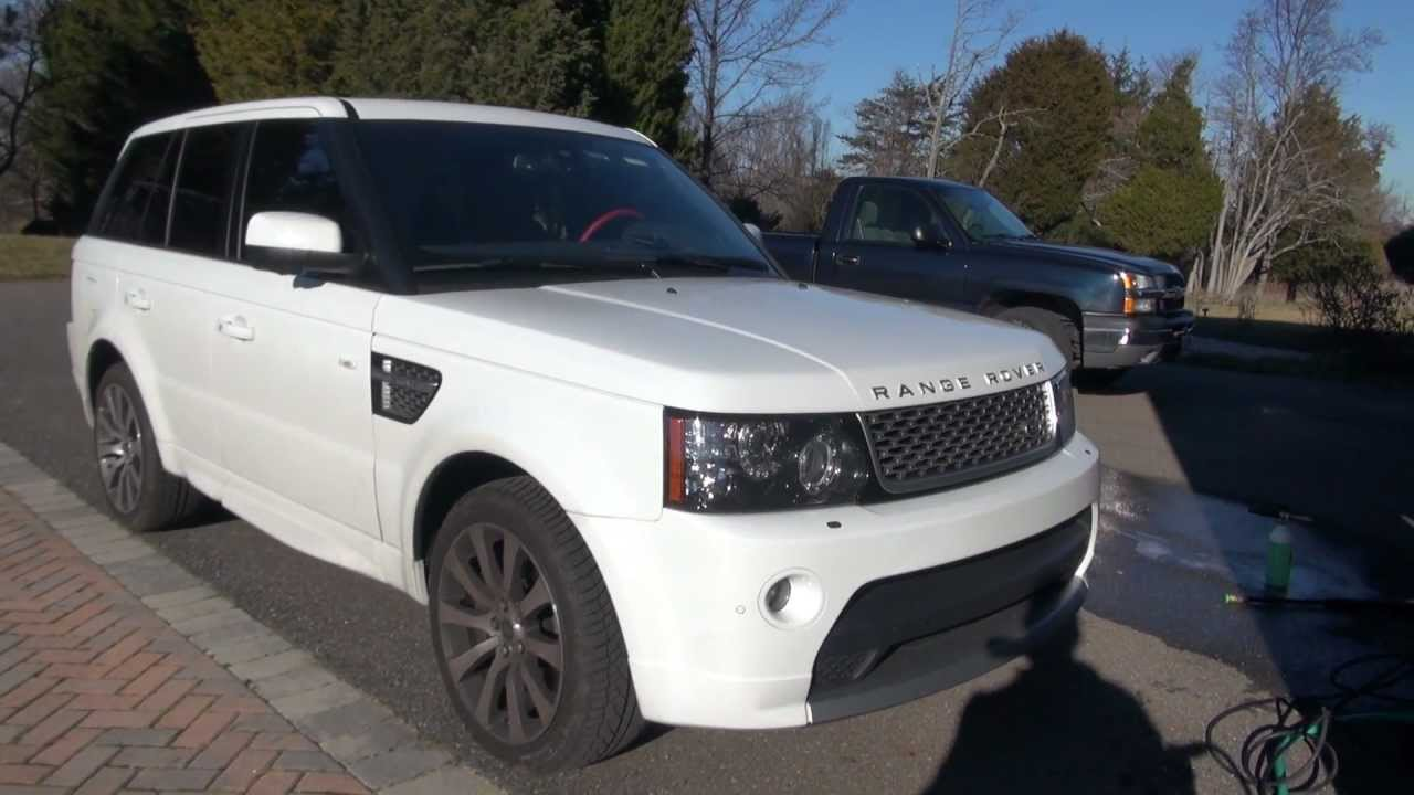 Range Rover Autobiography >> Range Rover Sport 2013 Autobiography Sonax Wheel Cleaner Autogeek Foam Cannon - YouTube