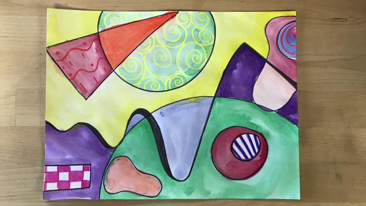 Kids Art Lesson - Wassily Kandinsky Abstract Art