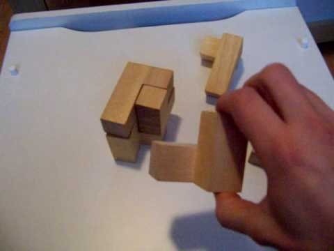 Marks And Spencer Wooden Cube Puzzle