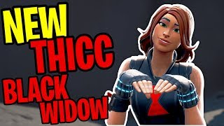 This is the THICCEST skin in Fortnite🕷🍑 | New THICC Black Widow Skin Showcase