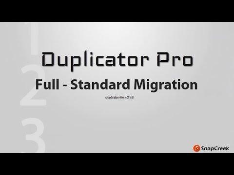 Duplicator Pro - Full WordPress Standard Migration Install