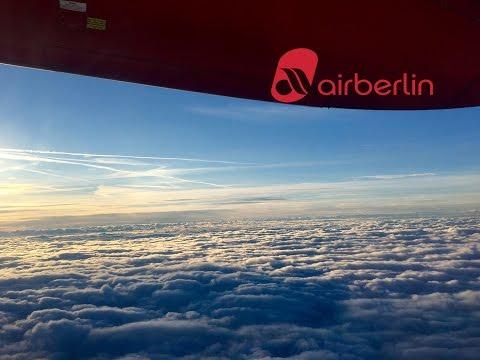 Air Berlin Dash 8-Q400 Bumpy Take Off from Berlin Tegel Airport