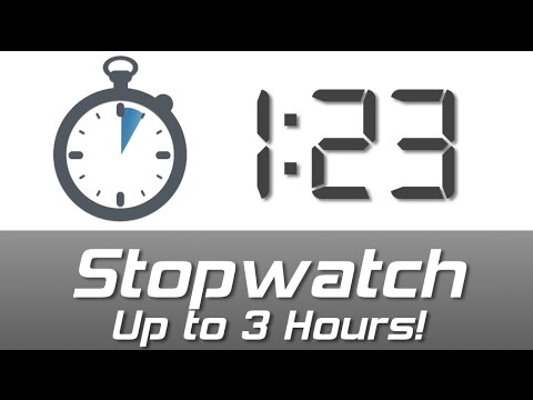Download Digital Stopwatch from 0 to 3 hours - Play to start, Pause to stop