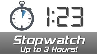 Digital Stopwatch from 0 to 3 hours - Play to start, Pause to stop screenshot 2