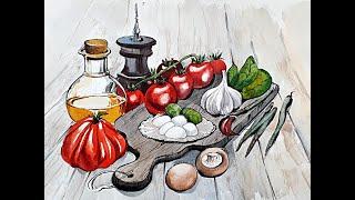 Бесплатный вебинар. Food-скетчинг «Итальянский завтрак»