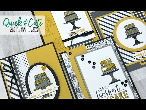 Quick & Cute Birthday Cards - FREE CARD KIT!