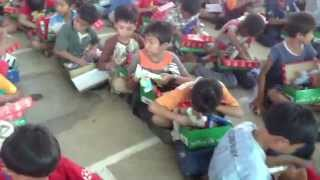 Operation Christmas Child - Distributing shoeboxes in Cambodia