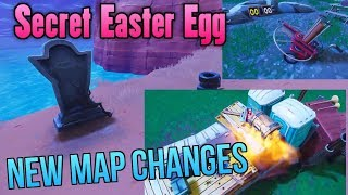 NEW HIDDEN TOMBSTONE EASTER EGG! All Patch 5.10 Map Changes - Fortnite Battle Royale Season 5