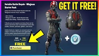 *NEW* How To Get WINGMAN Starter Pack *100% FREE*! (Fortnite Battle Royale free V Bucks & Skins)