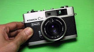 コニカ C35フラッシュマチックの使い方 KONICA C35 flashmatic How to use 1970s Rangefinder camera