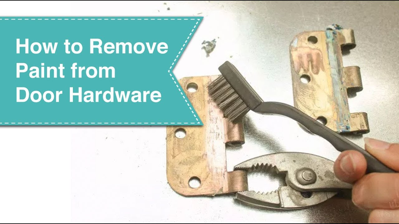 How To Remove Paint From Metal Hinges Without Removing Your Door You