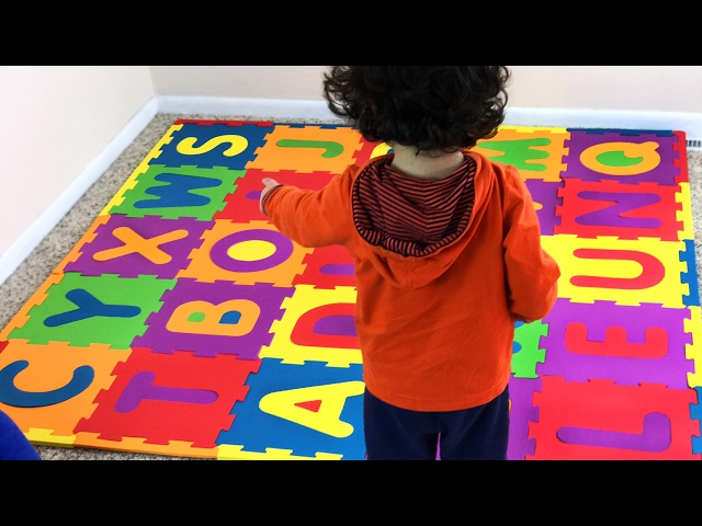Big ABC squishy foam puzzle. Colorful alphabets. Learn & enjoy. Educational. Let's play kids.