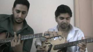 hai apna dil to awara on guitar