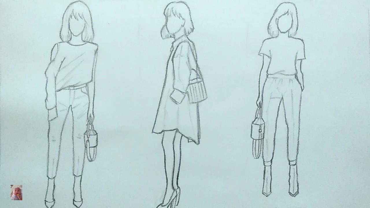Vẽ thời trang xinh cho những cô gái – Drawing pretty fashion for girls.