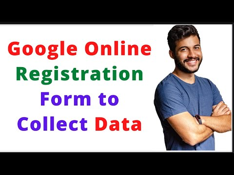 How To Create Online Registration Form To Collect Data|Google Form
