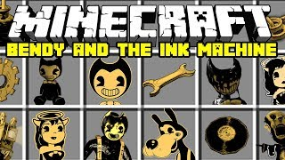 Minecraft NEW BENDY AND THE INK MACHINE MOD! | BENDY, BORIS, ALICE ANGEL & MORE! | Modded Mini-Game