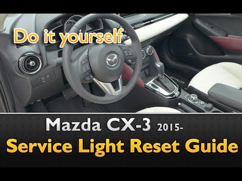 mazda cx 3 service light oil life reset - youtube