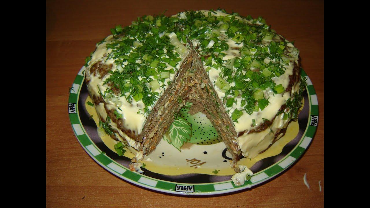 Как приготовить печеночный тортик
