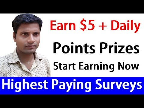earn-$5-+-daily-|-highest-paying-online-surveys-on-points-prizes-[-hindi]