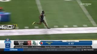 Baylor's Denzel Mims 40-yard dash NFL Combine