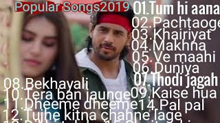 Best popular songs 2019।।Top Bollywood songs round of the year 2019।।Superhit hindi songs of 2019।।