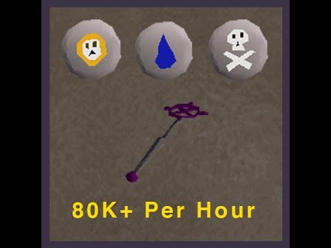 Runescape 2007 - Fastest Magic XP Training - 80k+ P/H - Ancient Magicks