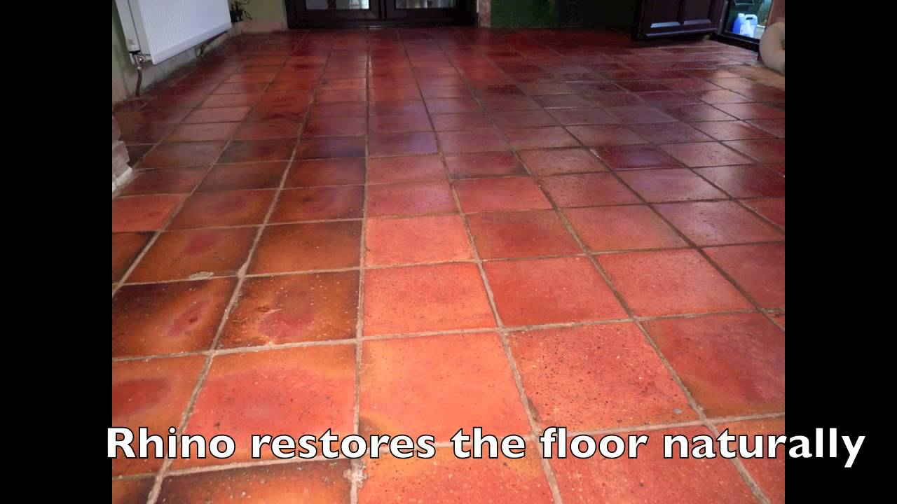 Terracotta tile restoration with rhino pads youtube dailygadgetfo Choice Image