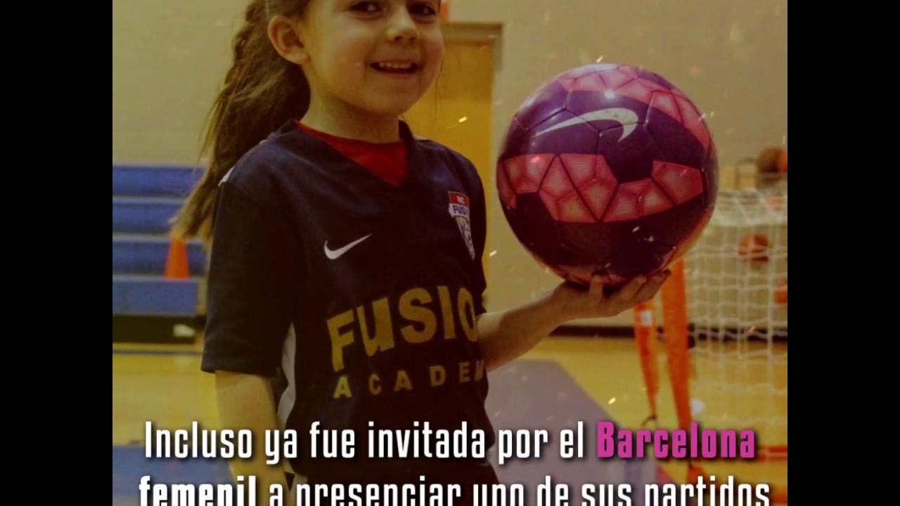 La nena que es una tendencia mundial por su habilidad con la pelota