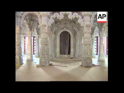 UK:LONDON: EUROPE'S LARGEST HINDU TEMPLE OPENING SOON
