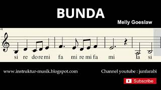 Bunda - Melly Goeslaw - not balok pianika / melodi - doremi / solmisasi