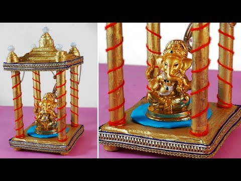 Navaratri Golu God Temple Craft | Diy Newspaper Handmade Craft Ideas | Best out of Waste Craft