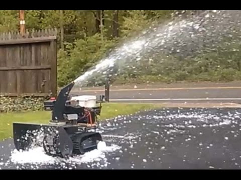 Just In Time For Summer: A Remote Controlled Snowblower