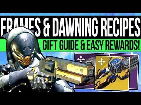 Destiny 2 | ALL DAWNING RECIPES & FAST INGREDIENTS! Dawning Materials, Exotic Blueprint & Gift Guide