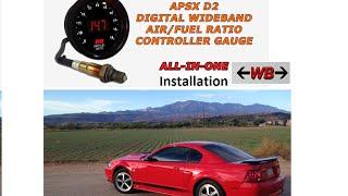 APSX D2 digital wideband o2 air fuel ratio controller install