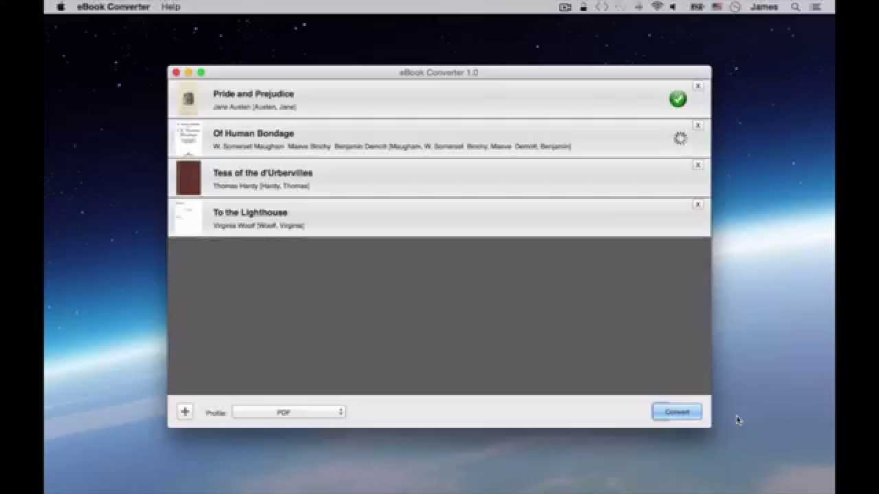 How to: Convert PDF, EPUB, MOBI to iPad, iPhone, Kindle, Android Phones on  Mac OS X
