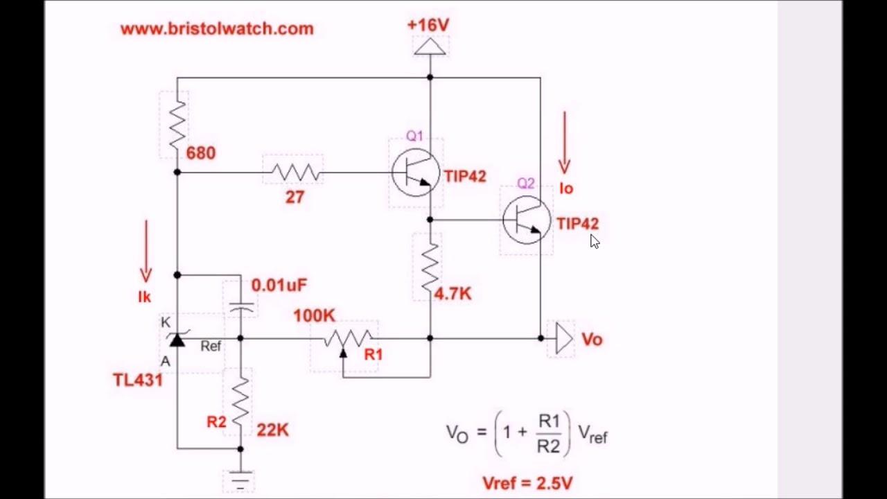 TL431 Precision Current Regulator Circuit Explained