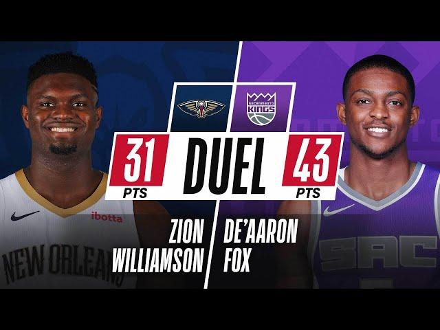 Zion Williamson (31 PTS & 13-15 FGM) & De'Aaron Fox (43 PTS & 13 AST) DUEL In Sacramento!