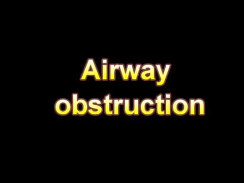 What Is The Definition Of Airway obstruction (Medical Dictionary Online)