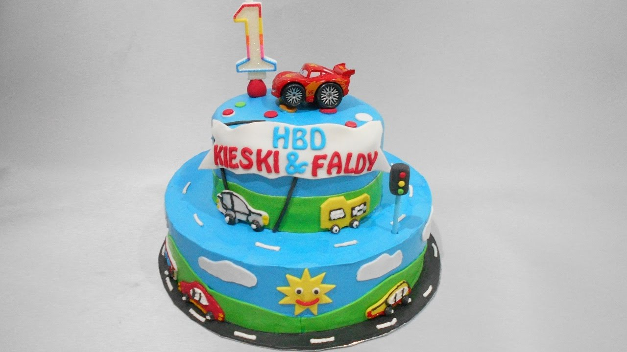 Cars Birthday Cake  Layers YouTube - Birthday cake cars 2