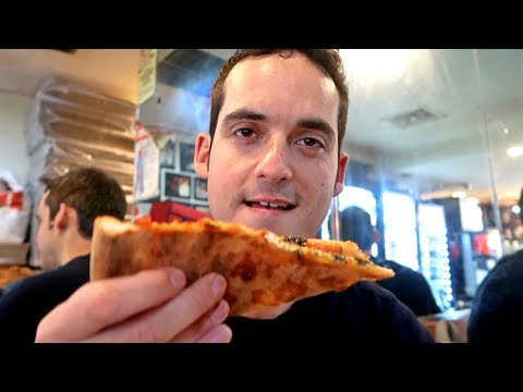 Trying The Best Pizza Slice In NYC! 🍕 (Bleecker Street Pizza)