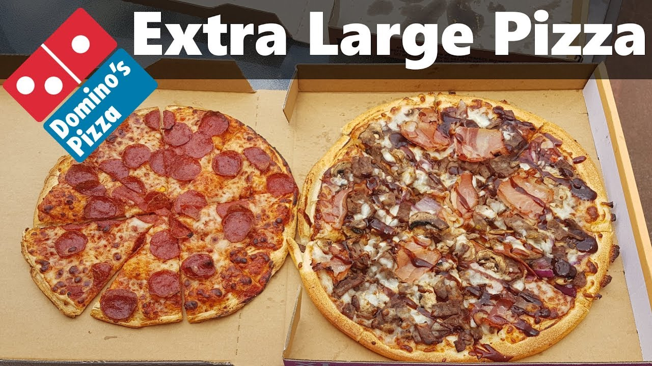 Domino S New Extra Large Pizza Vs Standard Large Comparison Youtube