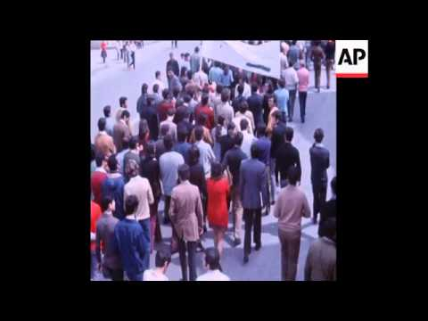 SYND 30/03/1972 STUDENTS DEMONSTRATING FOR IMPROVEMENT IN EDUCATION IN BEIRUT