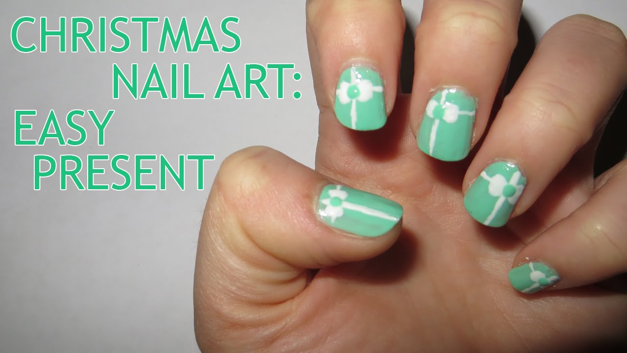 Christmas nail art easy present youtube christmas nail art easy present prinsesfo Choice Image