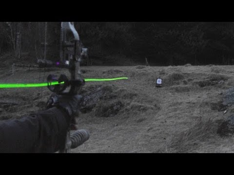 Shooting carbon arrows with lighted nocks from a compound bow