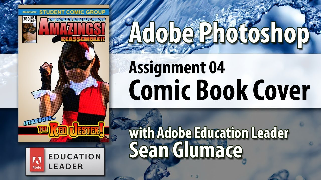 How To Make A Book Cover App : Make a comic book cover with adobe photoshop apps