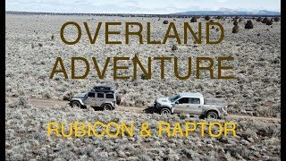 Jeep Overland Car Camping Adventure - Jeep Rubicon & Ford Raptor Stuck in the Mud