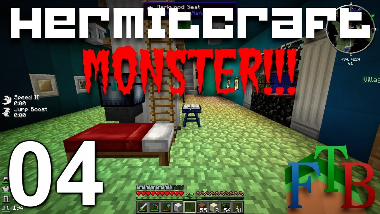 Hermitcraft FTB Monster Ep  4 - Smeltery Automation - Tinkers Construct